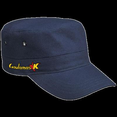 Casquette Militaire bleue avec logo Goulamas