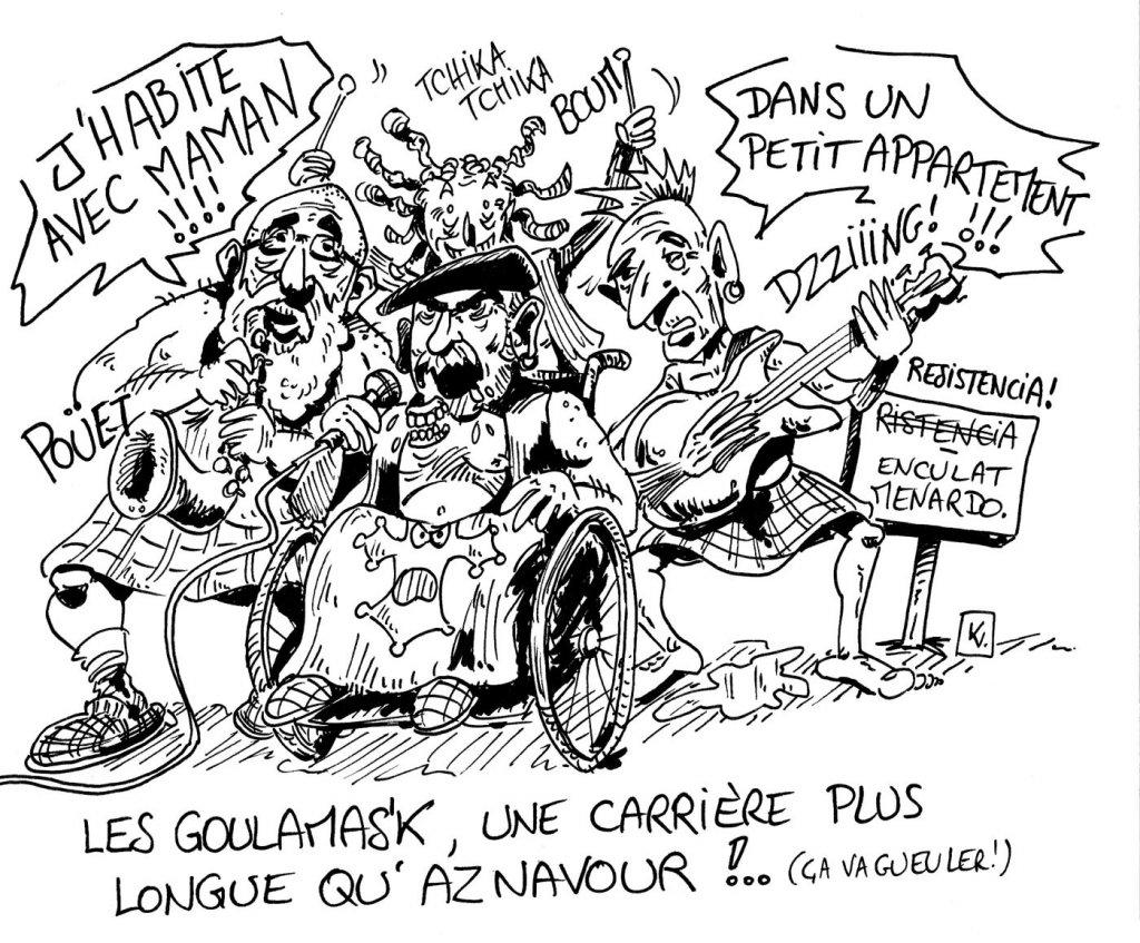 caricature de goulamas'K parue dans la pieuvre