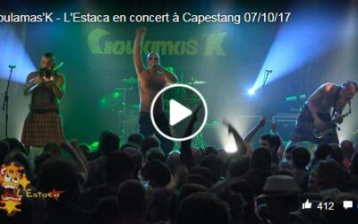 Goulamas'K : vidéo live en 2018
